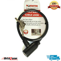 Bicycle Strong Steel Security Safety cable Lock with 2 keys Bike Spiral 650mm