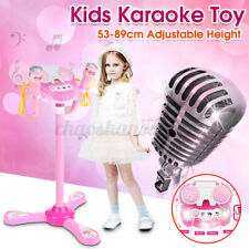Kids Karaoke Machine With Toy Electric System 2 Microphones Mp3 Play Light Kit
