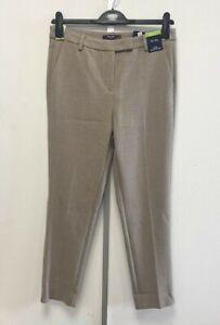 NEW! M&S Marks & Spencer UK12L Eur40L camel The Mia slim ankle grazer trousers