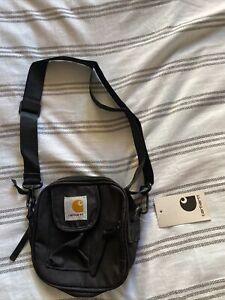 Mens Carhartt Single Shoulder Travel Bag Black With Pockets