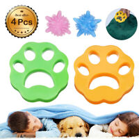 4 Pcs Dog Pet Fur Hair Remover Catcher Cleaning Ball For Laundry Washing Machine
