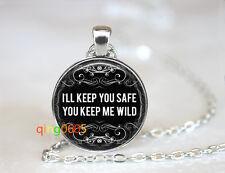 Valentine quote photo glass dome Tibet silver Chain Pendant Necklace wholesale
