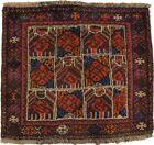 Small Vintage Red Tribal Design 2X2 Square Rug Handmade Kitchen Bathroom Carpet