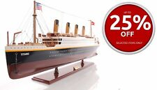 "RMS Titanic Ocean Liner Cruise Ship Built 56"" XLarge Wood Model Boat Assembled"