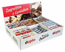Ferrero Top Brand Box mit 78 Riegeln in 8 Sorten - Kinder, Duplo, Bueno, Hanuta