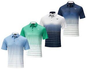 Mizuno Golf Quick Dry Mirage Stripe Golf Polo Shirt - M L XL XXL - RRP£68