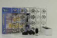 16 LLANTAS+SPINNERS+Neumáticos 8 ejes set juego de llantas CROMO Tuning Diorama