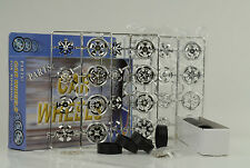 16 Felgen + Spinners + Reifen 8 Achsen Set Felgensatz chrome tuning Diorama 1:18