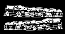 VW Bus 5 Generationen Aufkleber T1 T2 T3 T4 T5  Sticker