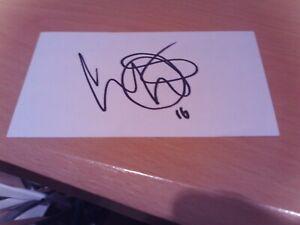 signed card of ex blackburn rovers footballer david dunn