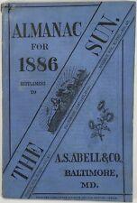 Baltimore Sun Maryland Almanac 1886