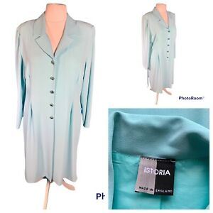 Ladies Blue Jacket Size 18 ISTORIA Long Line Buttons Long Sleeves Smart Wedding