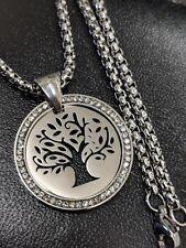 Tree of Life, Cross, Infinity, Hand of Fatima, Crystal Pendant Necklace Gift