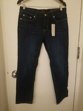Banana Republic Women's Girlfriend Medium Wash Cropped Jeans Size 28 6P NWT
