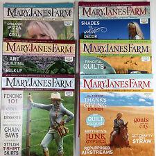 MARY JANES FARM MAGAZINE 2011-2012 Six (6) back issues - Organic Natural Living