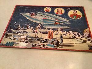 VINTAGE 1950'S SPACE PATROL INLAID PUZZLE MILTON BRADLEY