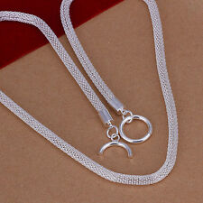 New fashion 925 sterling Silver Plated jewelry fashion women mesh cute necklace