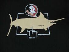 Guy Harvey - Fsu - Florida State Seminols Marlin - Mediano Negro Camiseta W975