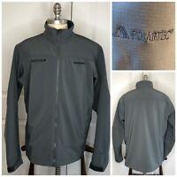 PATAGONIA Men's Adze Dark Gray Polartec Jacket XL Soft Shell WindBloc Full Zip