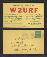 1948 W2URF QSL CARD USED LARCHMONT NY USA