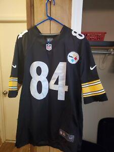 NIKE On Field Antonio Brown #84 Pittsburgh Steelers Jersey Black Medium