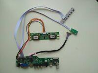 TV HDMI VGA RF PC LCD Controller Board Kit DIY for M170EG01 1280X1024 Panel AUO