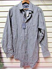 NWT Daniel Cremieux Classics Gray Long Sleeve Button-Up Shirt Men's Medium