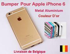 BUMPER METAL ALUMINIUM HOUSSE COQUE Etui  POUR IP 6  4.7'  D'or
