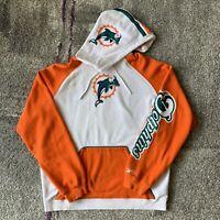 Reebok NFL Miami Dolphins Football Hoodie Sweater Mens Large