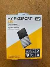 WD MY PASSPORT 512GB SSD PORTABLE EXTERNAL HARD DRIVE