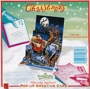 Treasures Pop-Up Christmas Greeting Card - Choose Yours - New