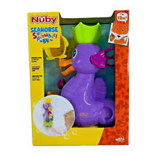 Nuby Seahorse Waterwheel Baby Bath Toy 12m+ Spinner with Pouring Cup BPA free