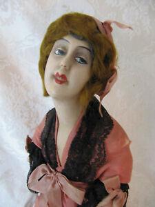 """Very Detailed 12"""" Antique German Munzerlite Doll Boudoir Doll"""