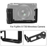 Metal Vertical Quick Release L-Plate Bracket Hand Grip for Fujifilm X-T30 Camera