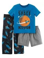 NWT Child of Mine by Carter's 3 Piece Pajama Set Space Mission 2T Glows In Dark
