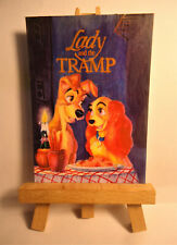 Lady and the Tramp Movie Poster 1962 ACEO Original PAINTING by Ray Dicken