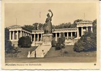 AK München, Bavaria mit Ruhmeshalle, gel. am 23.12.1941, Weihnachtskarte (!)