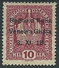 1918 VENEZIA GIULIA 10 H MH * - ED216-2