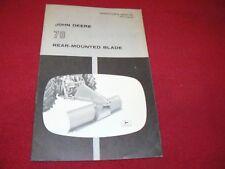 John Deere 78 Rear Mounted Blade Operator's Manual WPNH