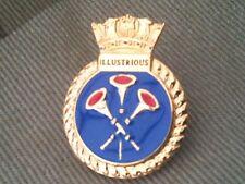 HMS Illustrious Royal Navy Lapel Badge