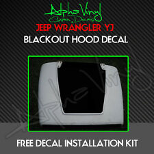 Blackout Hood Decal Matte Black Out w/ install kit Fits: Jeep Wrangler YJ 87-95