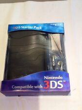 Nintendo 3 DS Starter Pack Inc. Estuche De Cuero Negro, Stylus, Audifonos & Cloth