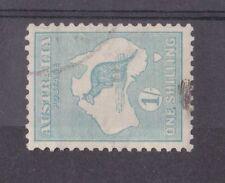 AUSTRALIA, KGV 1915 ROO ISSUE, 1/- SG 40 ba SIDEWAYS WATERMARK, CAT £400 USED