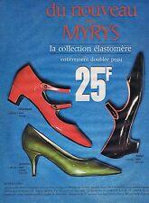 PUBLICITE ADVERTISING 045 1965 MYRYS la collection élastomère pour femmes