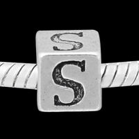 """ANDANTE-STONES SILBER BEAD """"ALPHABET"""" BUCHSTABEN BUCHSTABE """"S"""" #3286 + GESCHENK"""