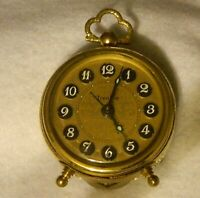 341#J-- Clock Alarm Vanity Ornate West Germany Trenkle Vintage