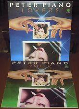 LOTTO 2 LP PETER PIANO Lovers + Vol. 2 (Frog 77) Italo Cosmic disco funk VG+/NM