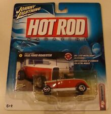 Johnny Lightning Hot Rod Magazine 1932 Ford Roadster White Lightning..MOC..