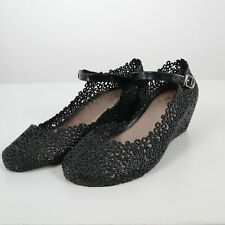 Vivienne Westwood Melissa Mary Jane Wedge 8 39 Black Floral Jelly Anglomania