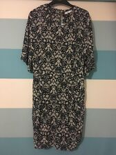 BNWT Mango MNG Medium M 10 Suit Floral Navy White Patterned Autumn Dress Tunic